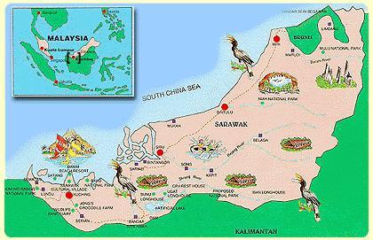 Kuchingtext - Kuching map
